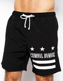 Criminal Damage Cannes Swim Shorts Black