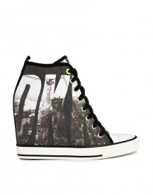 DKNY ACTIVE Grommet Billboard Wedge Trainers