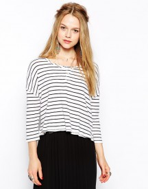 Free People Boat Neck Striped T-Shirt