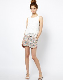 French Connection Marylin Shorts in Floral Print