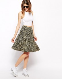 Ganni Skirt in Leopard Print