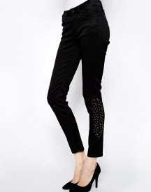 James Jeans Medusa Skinny Black Studded Jeans