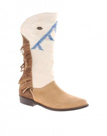 Kiboots Jane Handmade Heavenly White Suede Boots