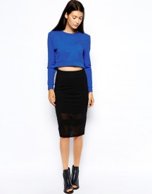 Lavish Alice Sheer Pencil Skirt