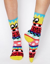 Lazy Oaf Face It Ankle Socks