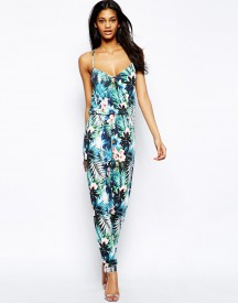 Lipsy Cami Jumpsuit in Tropical Print