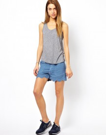MiH Jeans The Scallop Short In Zooey