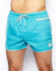 Oiler & Boiler East Hampton Retro Swim Shorts Scuba Blue