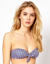 Paul Smith Geo Print Knot Front Bandeau Bikini Top