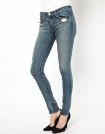 Rag & Bone/Jean The Skinny Distressed Jeans