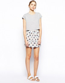 Selected Harti Skirt in Kaleidoscope Print