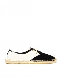 Soludos Colourblock Derby Lace Up Espadrille Flat Shoes