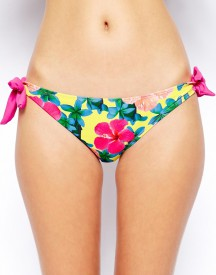 South Beach Flower Bikini Bottom with Side Ties