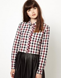 The WhitePepper Cropped Shirt in Check