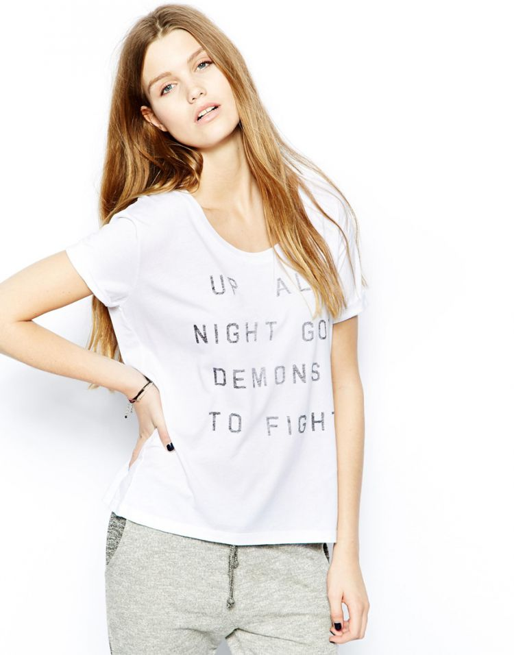 PRODUCT_IMAGE Zoe Karssen T-Shirt With Up All Night Print