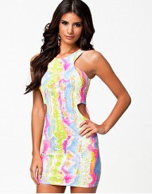 John Zack Racer Cut Rib Dress