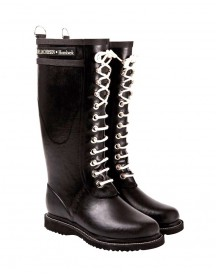 Long Rubberboot Zwart