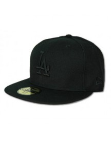 59FIFTY Black on Black Dodgers by NEW ERA