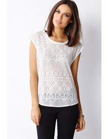 Crochet Lace Woven Top