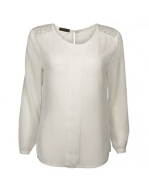 Blouse Strass Off-White