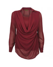 Blouse Waterfall Bordeaux