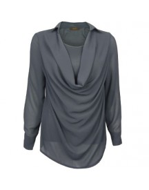Blouse Waterfall Gray