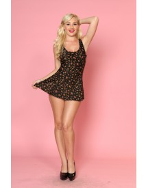Felicity Too Black A-Line swimdress