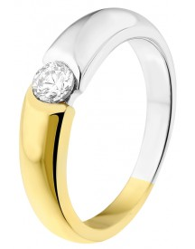 Eve bicolor plated ring met zirkonia