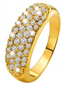 Eve gold plated ring met zirkonia