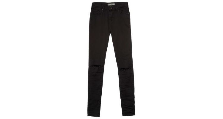 PRODUCT_IMAGE Topshop LEIGH SKINNY Slim fit jeans black