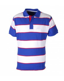 Suitable Polo Big Stripe Purple Red