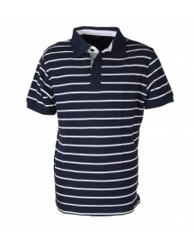 Suitable Polo Stripe Navy White
