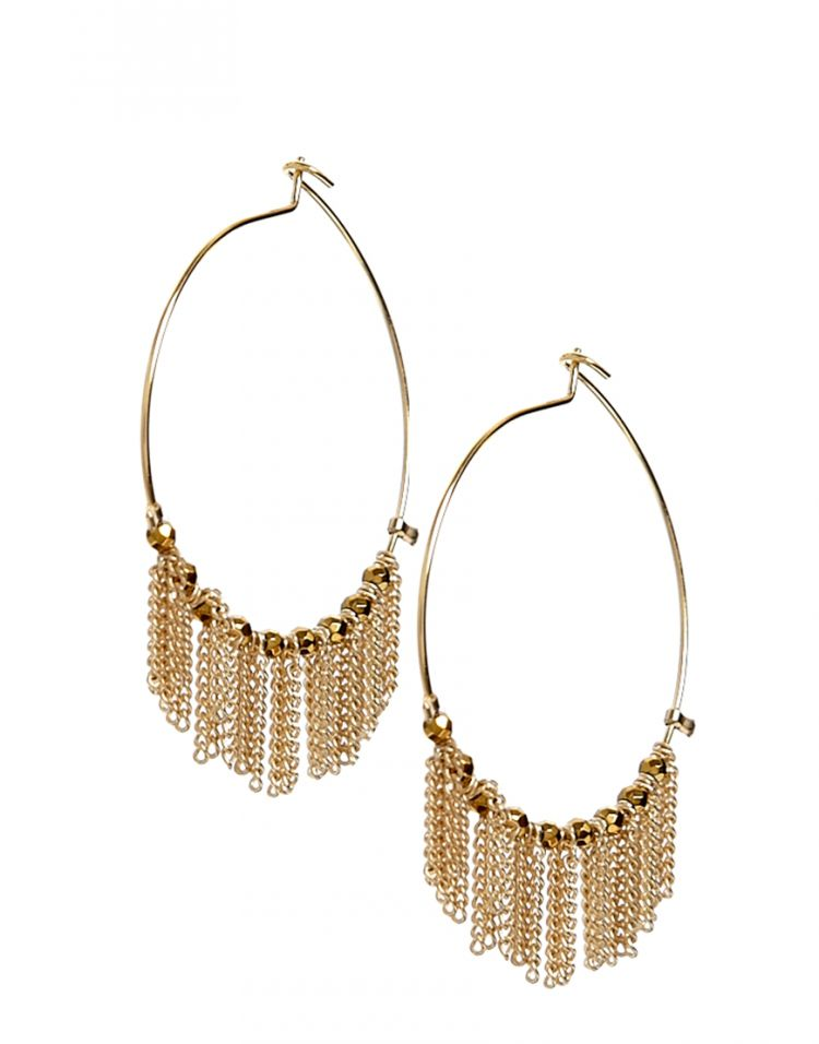 PRODUCT_IMAGE Limited Edition Hoop Chains Earrings