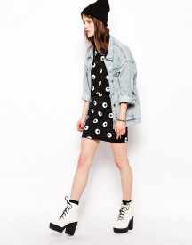 Cheap Monday Cartoon Eye Mini Skirt