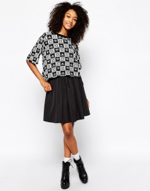 Monki Full Skirt With Drawstring Waist