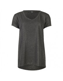 8mm. glam v-neck tee with coating tops