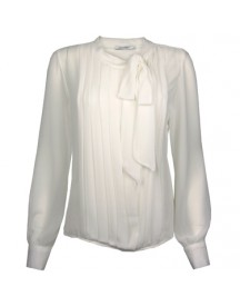 Blouse Bow Tie Off-White